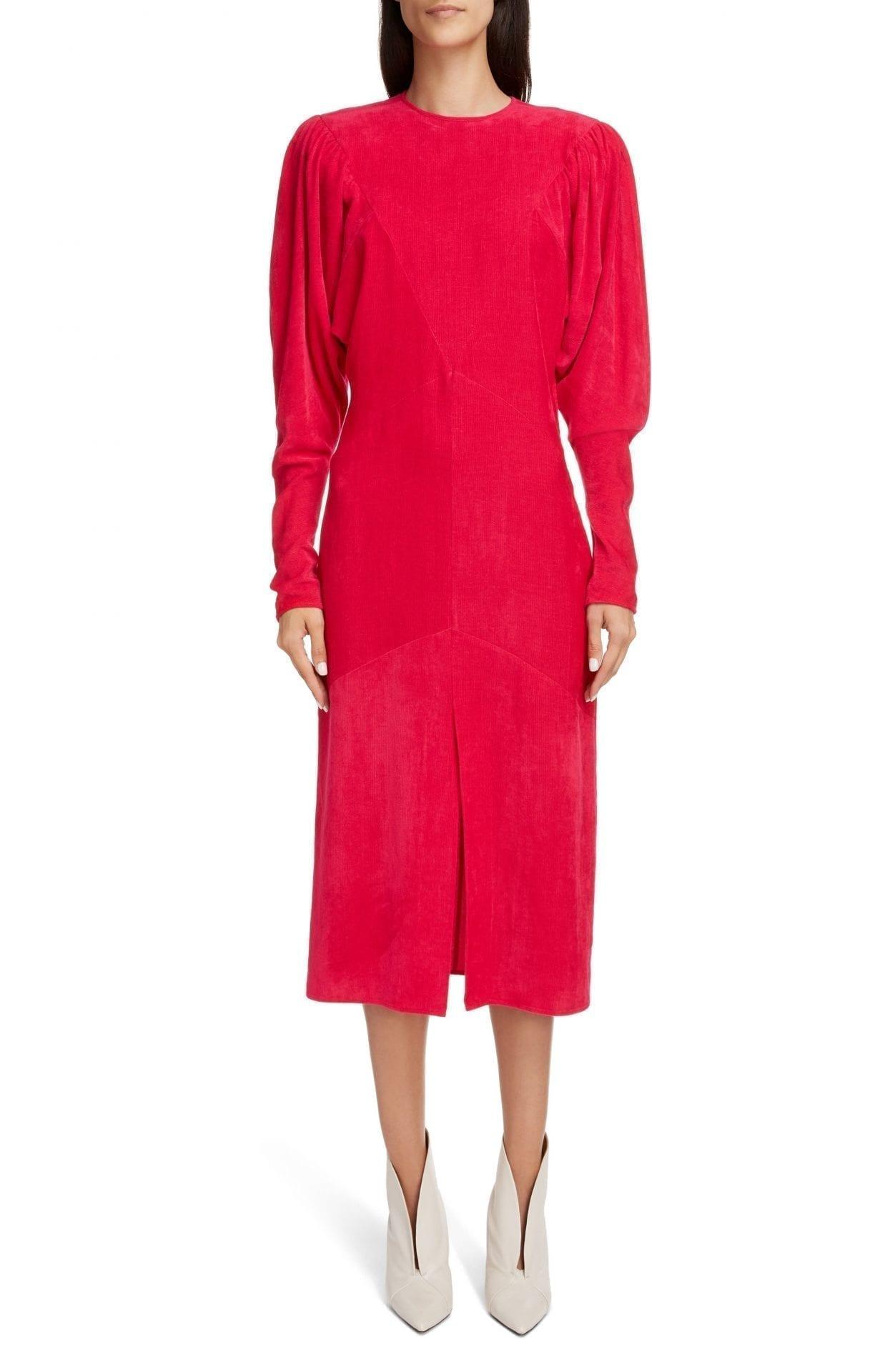 ISABEL MARANT Venia Long Sleeve Velvet Dress