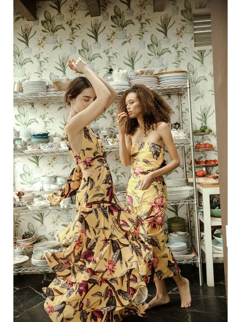 JOHANNA ORTIZ Floral Print Recycled Georgette Dress