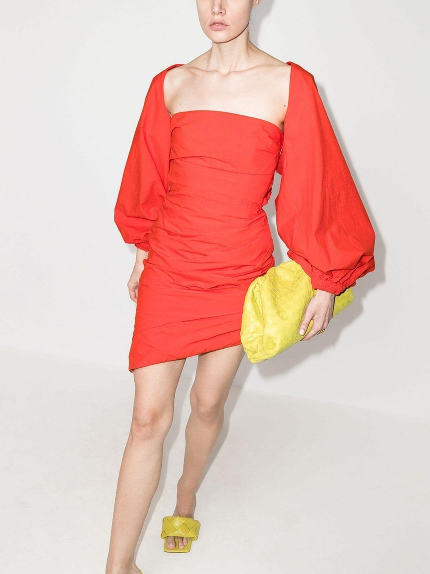 JOHANNA ORTIZ Immerse Yourself Ruched Mini Dress