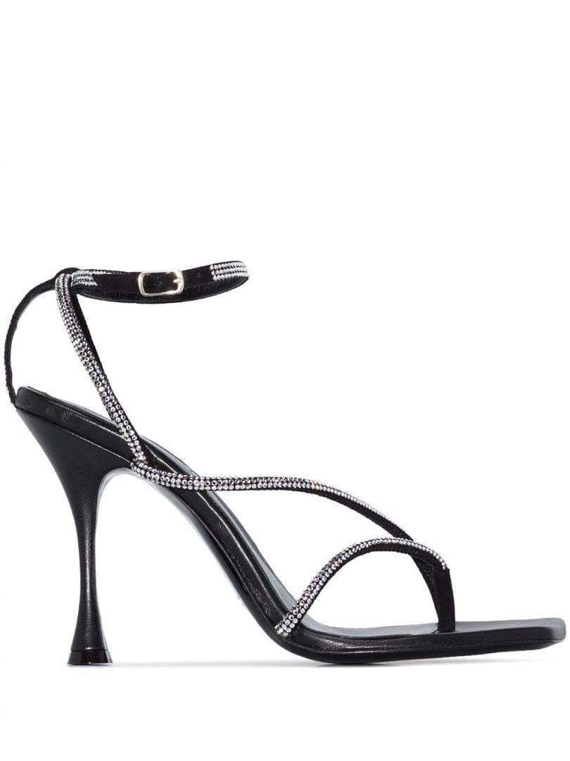 MAGDA BUTRYM Crystal-embellished 105mm Leather Sandals
