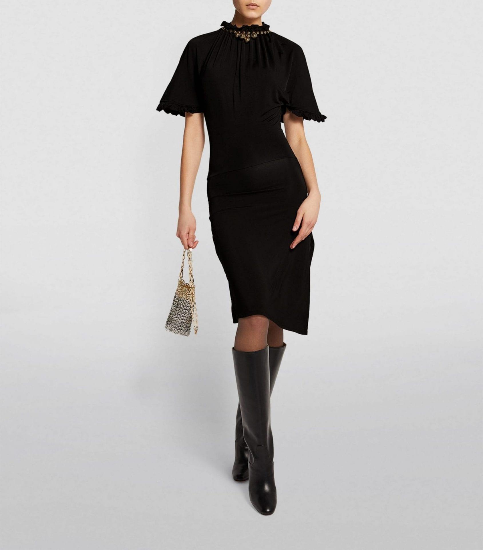 PACO RABANNE Side-Split Dress