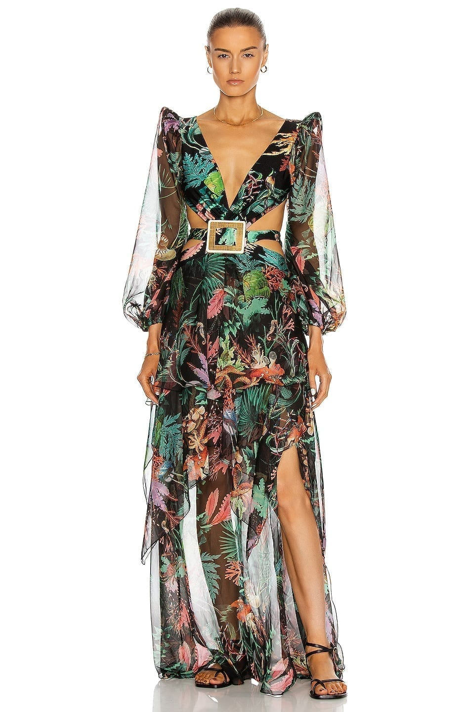 PATBO Oasis Long Sleeve Cut-Out Dress