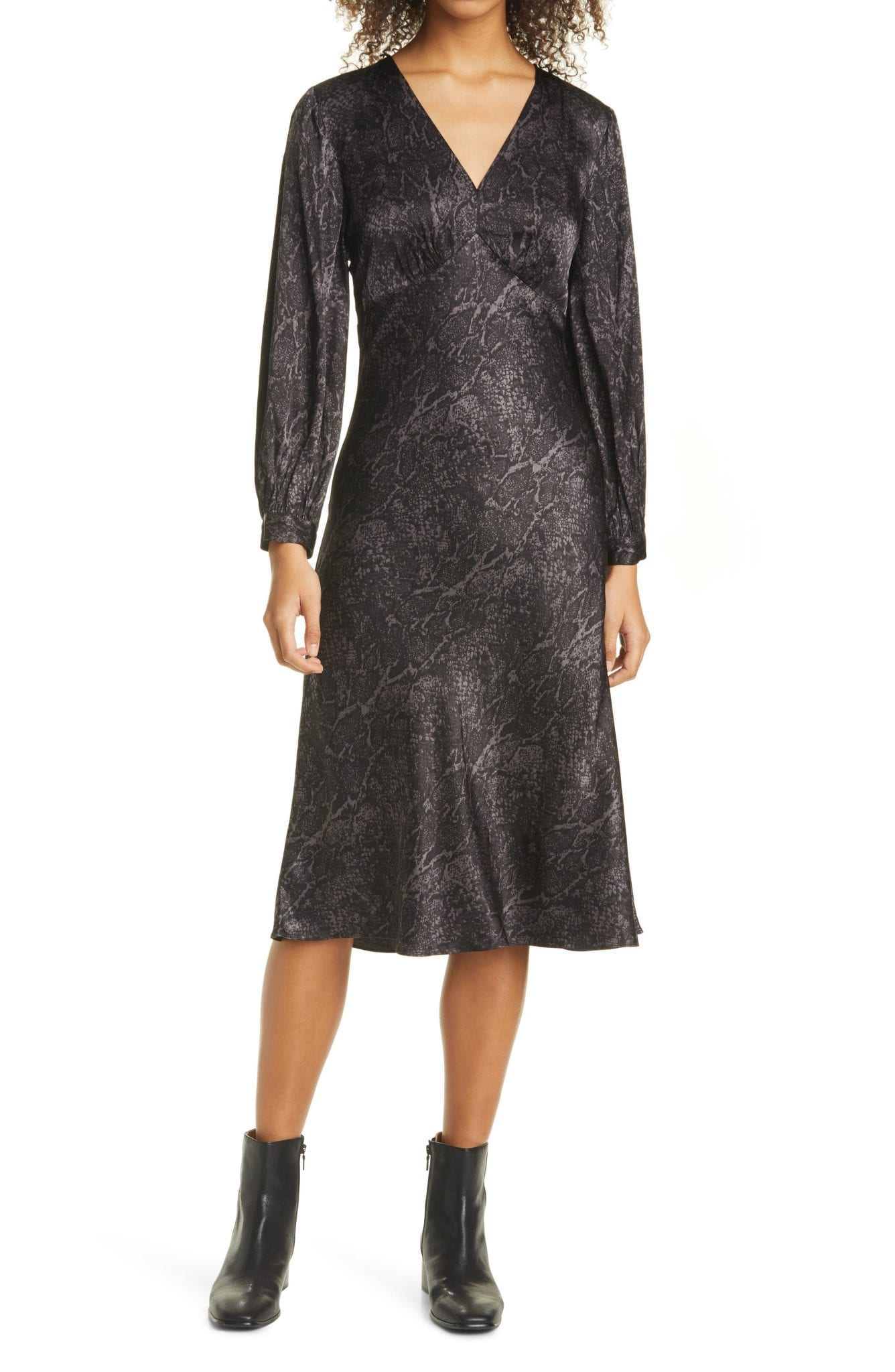 RAILS Shiloh Long Sleeve Midi Dress