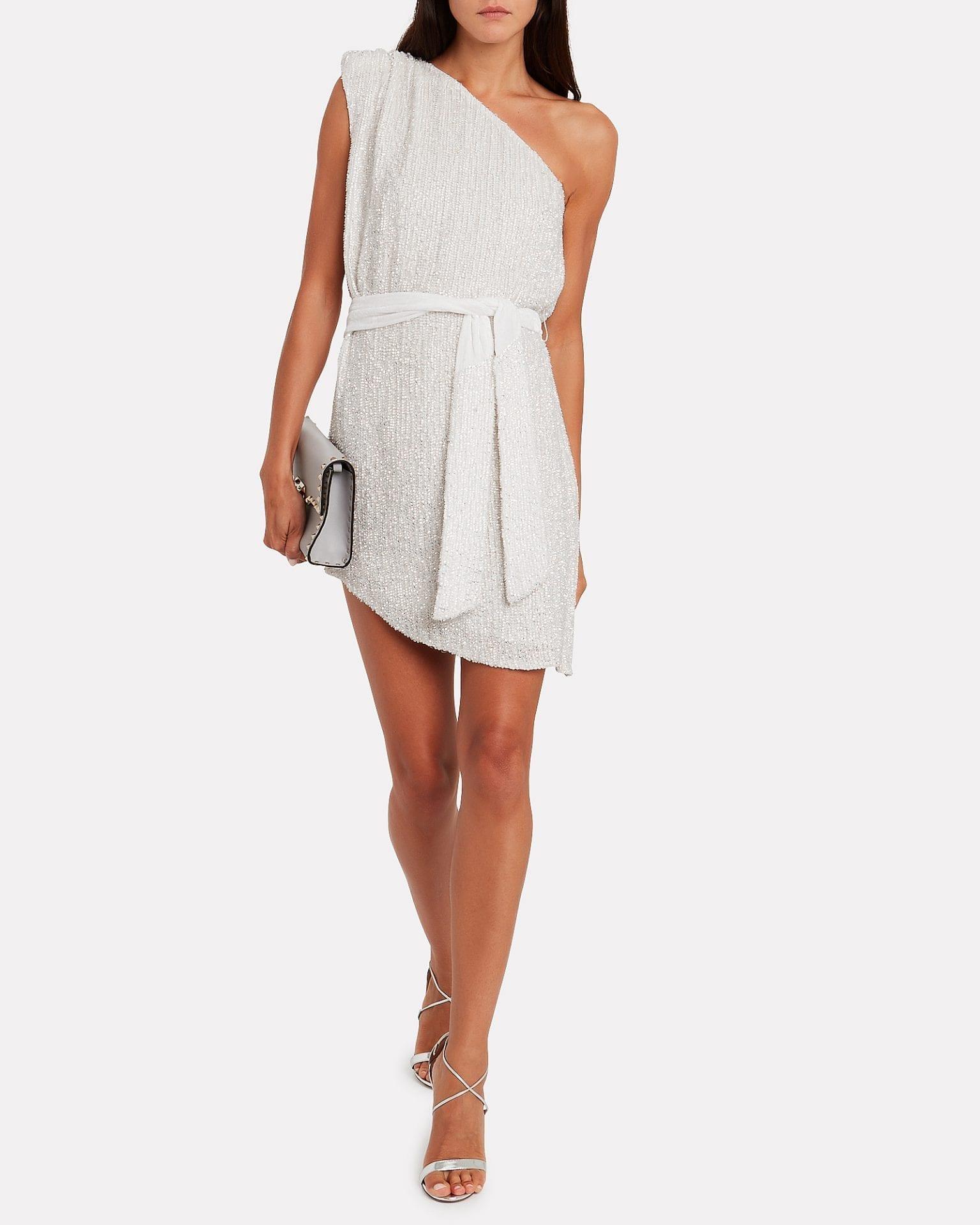 RETROFÊTE Ella One-shoulder Sequin Dress