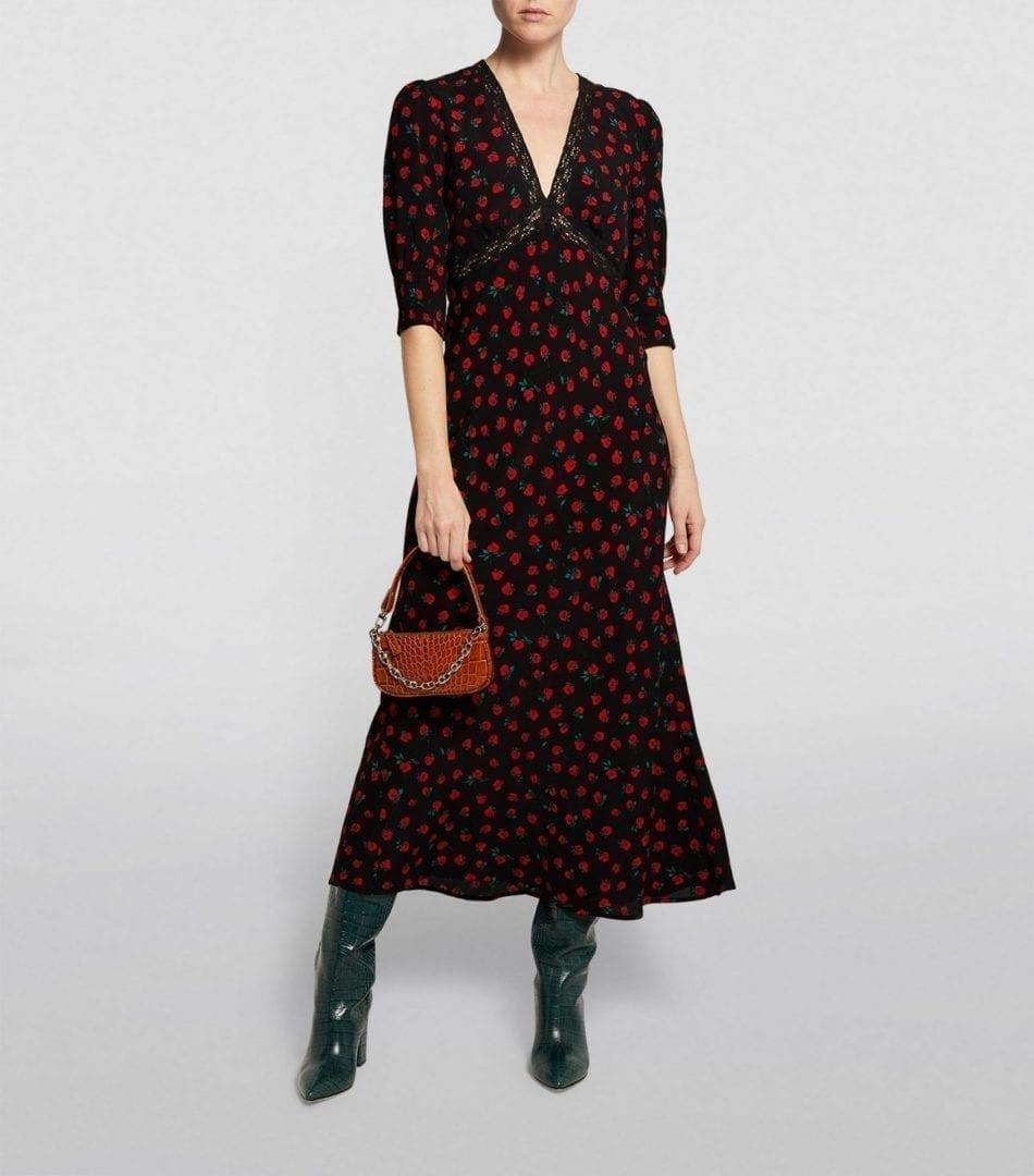 RIXO Gemma Rose Print Dress