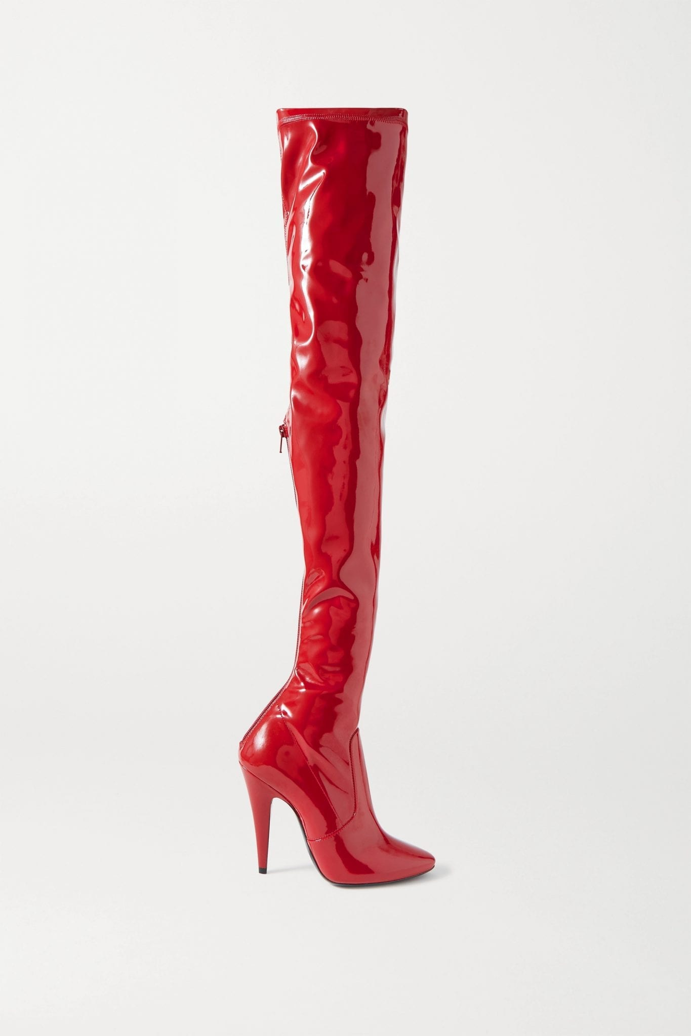 SAINT LAURENT Patent-leather Over-the-knee Boots