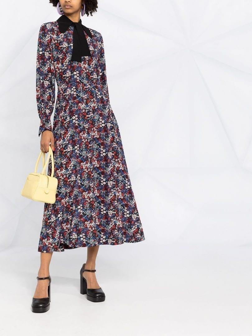 SEE BY CHLOÉ Floral-print Silk Dress