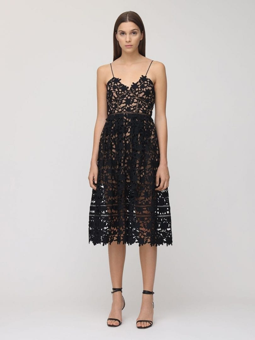 SELF-PORTRAIT Azalea Lace Midi Dress