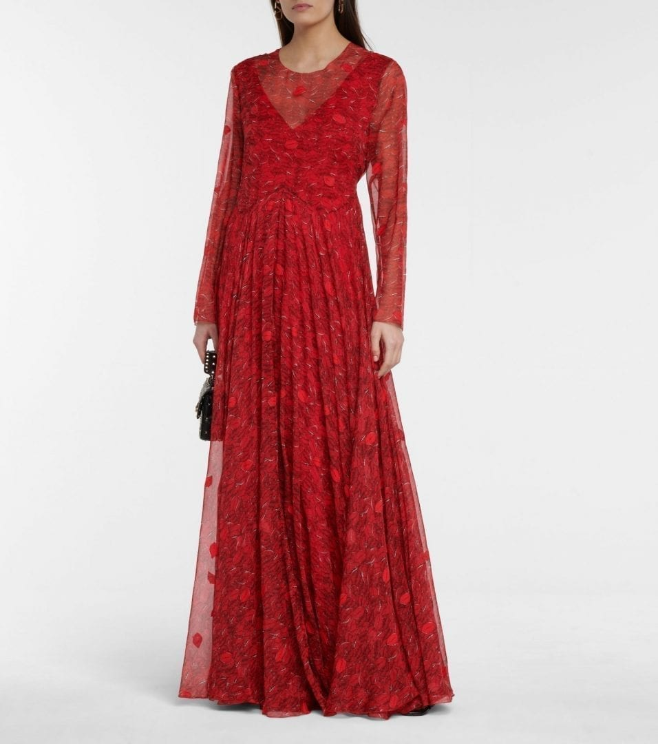 VALENTINO Le Rouge Silk Chiffon Gown