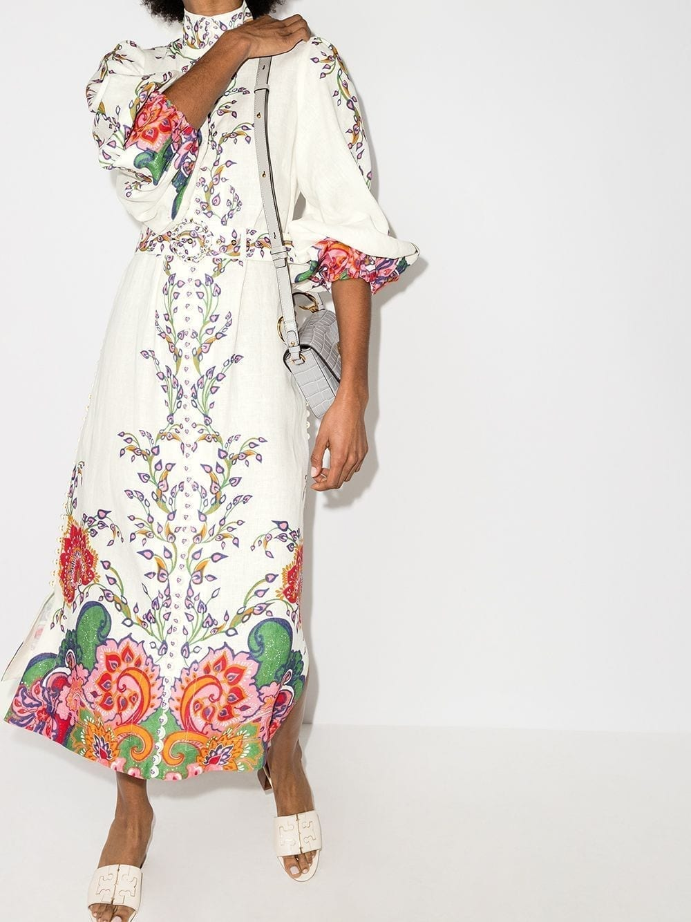 ZIMMERMANN Paisley Floral Print Midi Dress