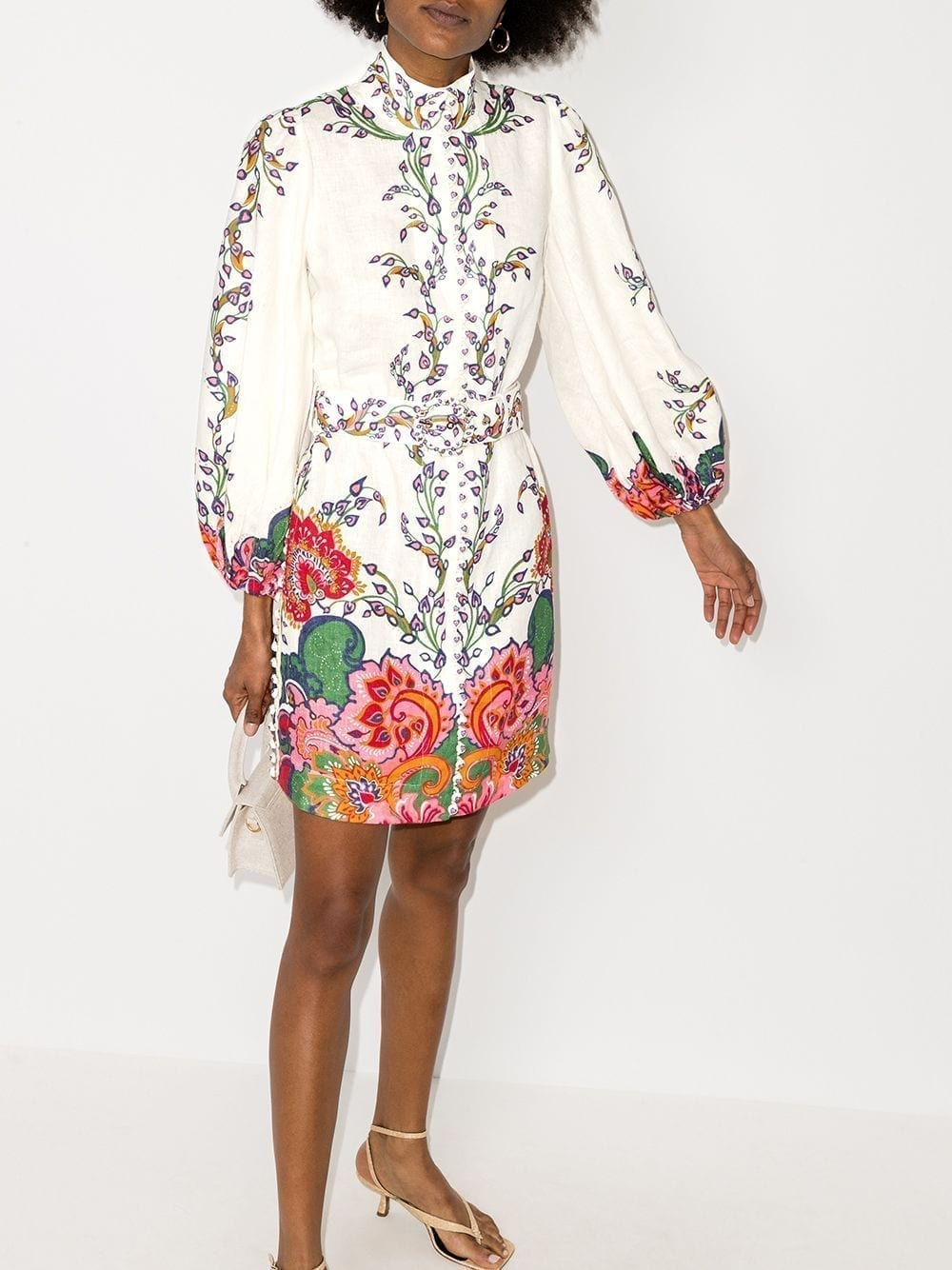 ZIMMERMANN Paisley Floral Print Mini Dress