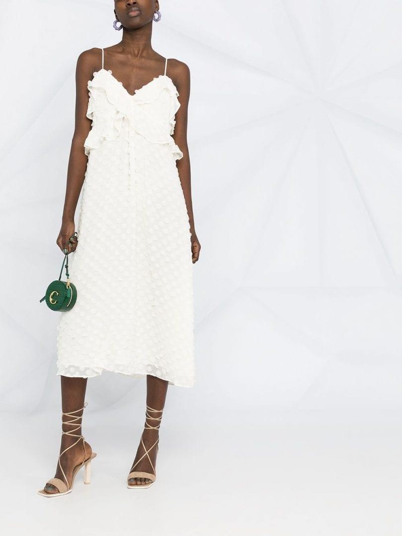 ZIMMERMANN Texture Polka-dot Midi Dress