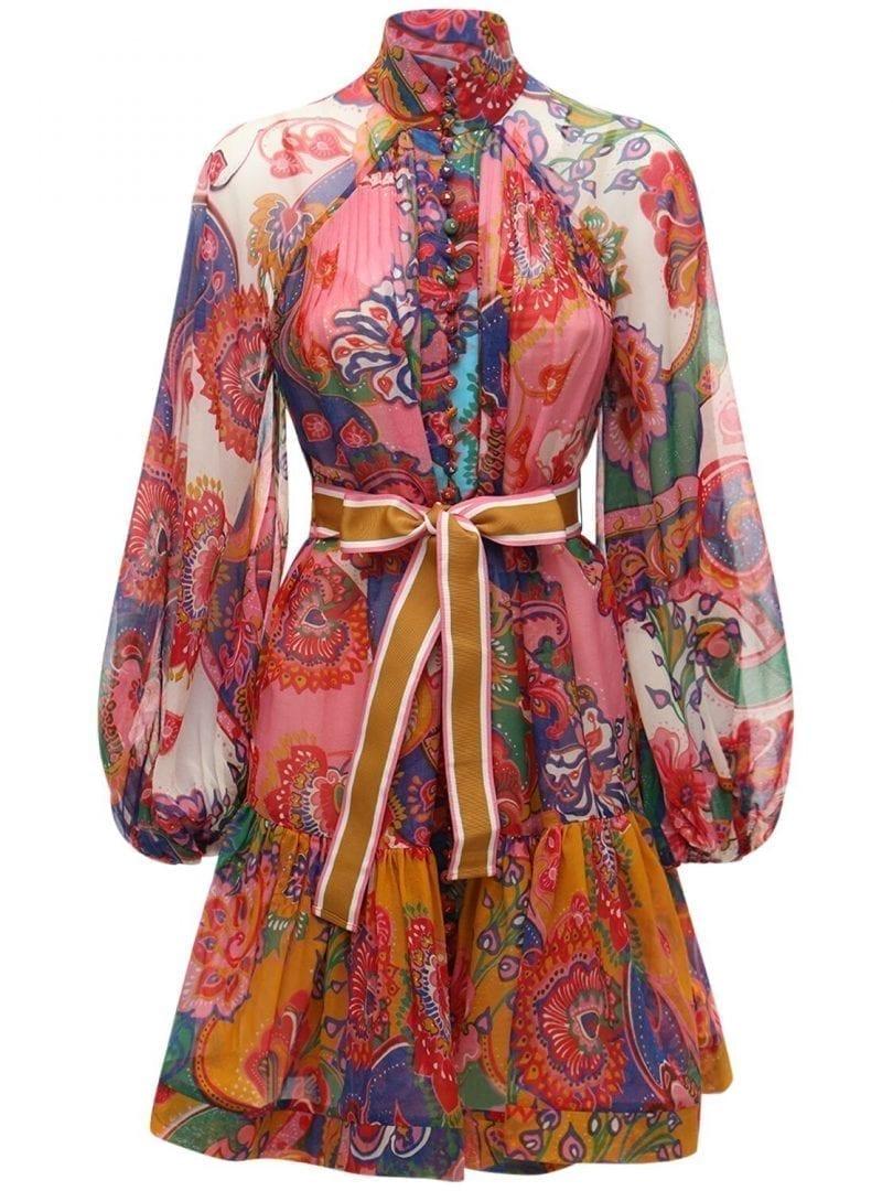 ZIMMERMANN The Lovestruck Cotton Voile Mini Dress
