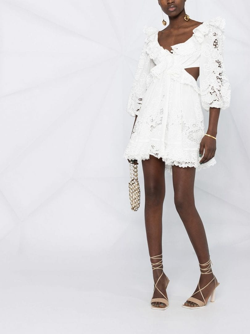 ZIMMERMANN The Lovestruck Lace Mini Dress
