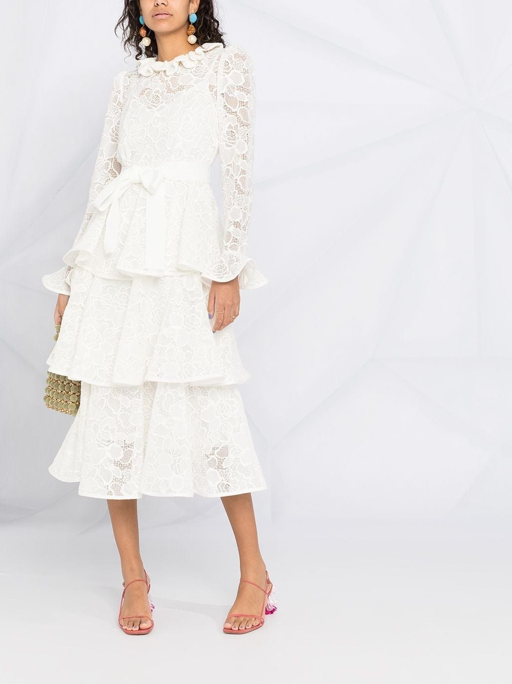ZIMMERMANN Tiered Flared Lace Dress