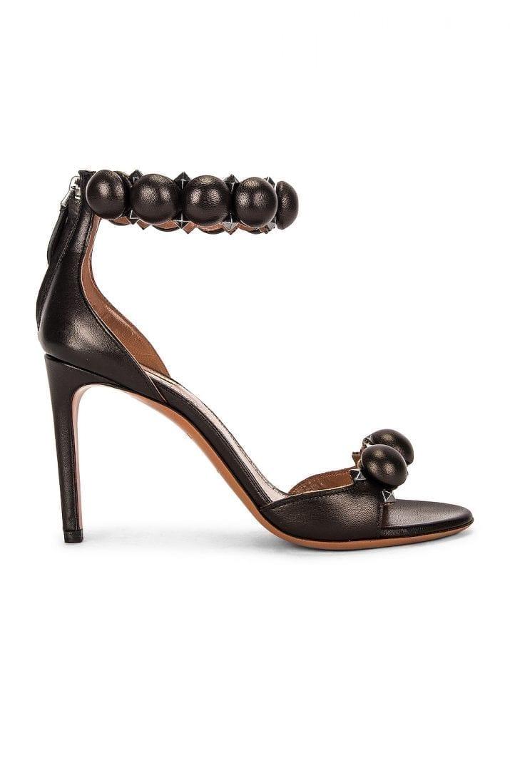 ALAÏA Leather Bombe Sandals