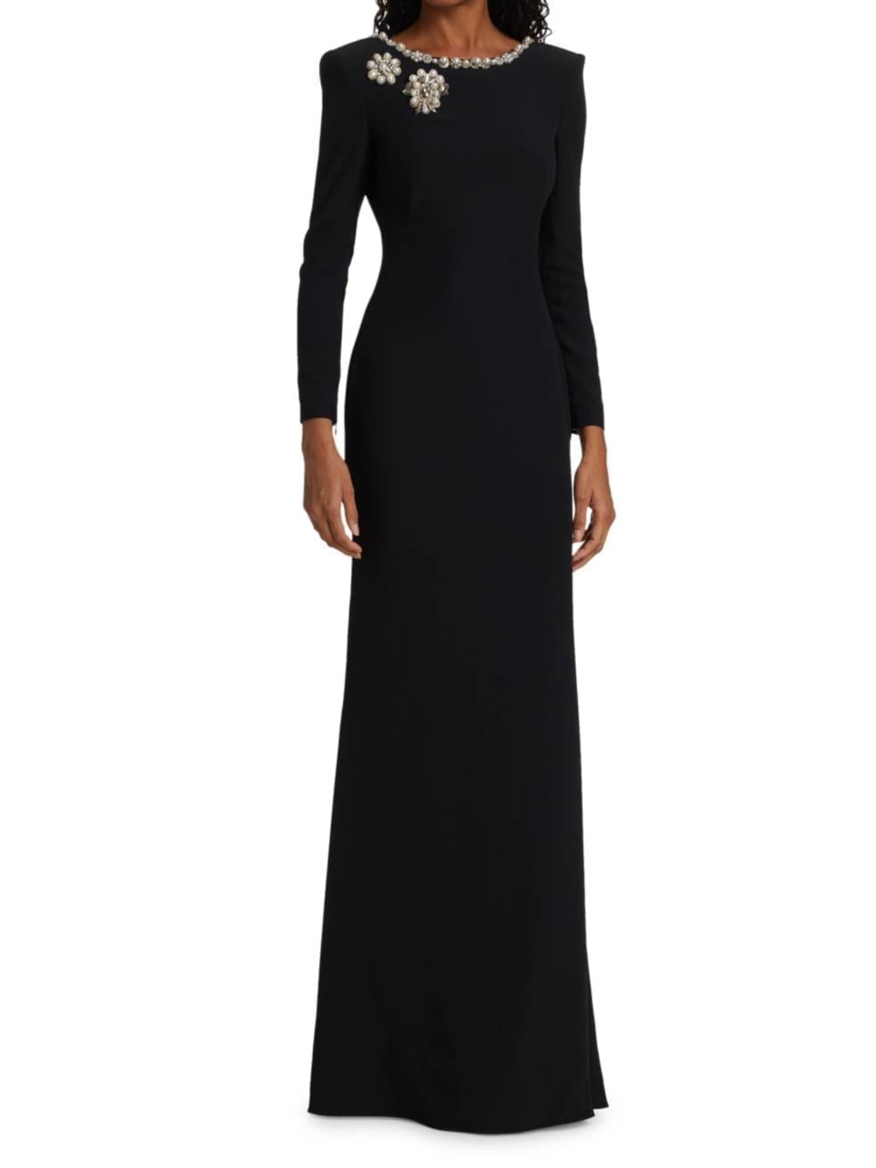 ALEXANDER MCQUEEN Pearl-Embellished Long-Sleeve Gown