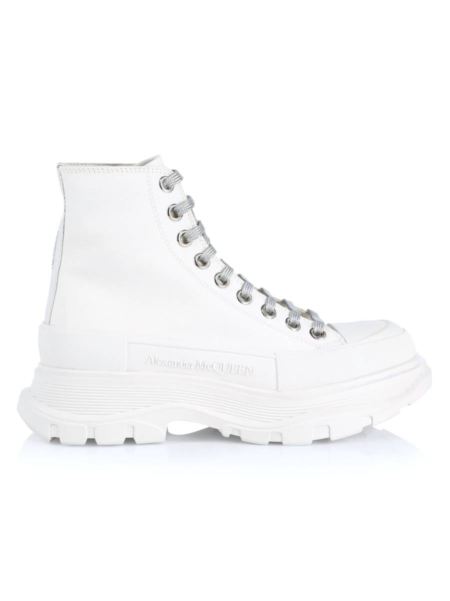 ALEXANDER MCQUEEN Tread High-Top Canvas Sneakers