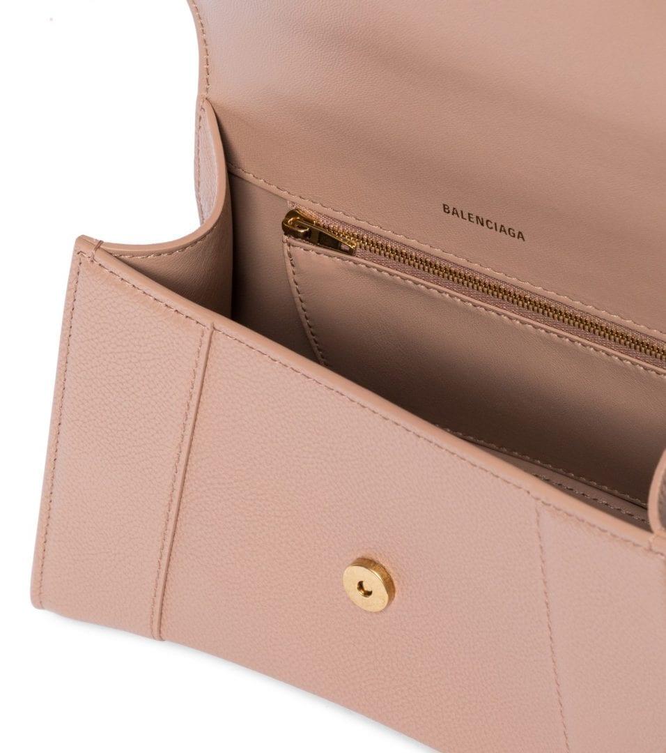 BALENCIAGA Hourglass Small Leather Tote Bag