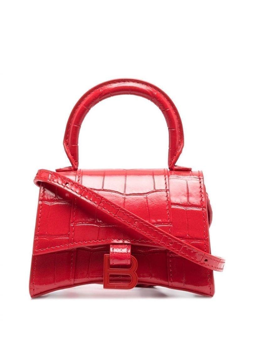 BALENCIAGA Mini Hourglass Tote Bag