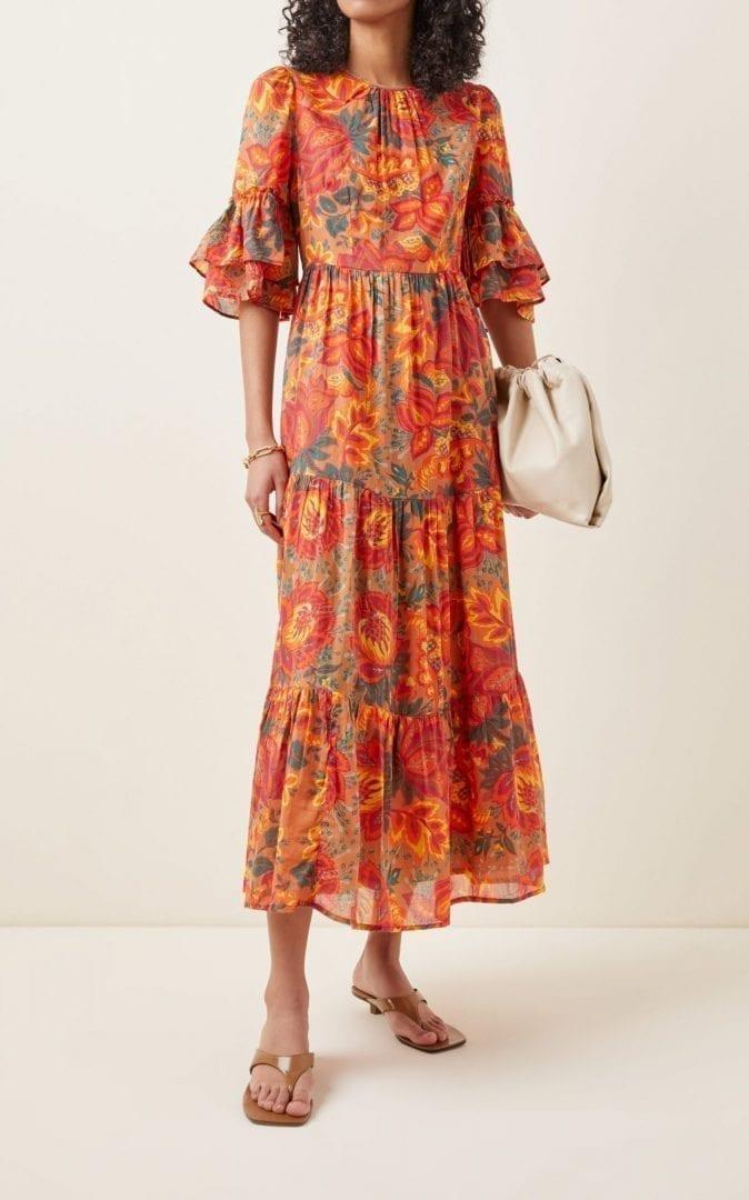 BANJANAN Faith Printed Organic Cotton Midi Dress