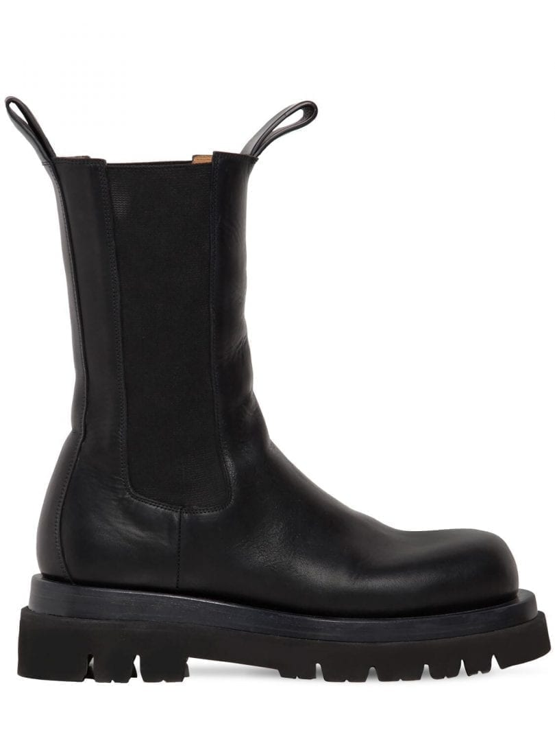 BOTTEGA VENETA 50mm Bv Lug Leather Beatle Boots