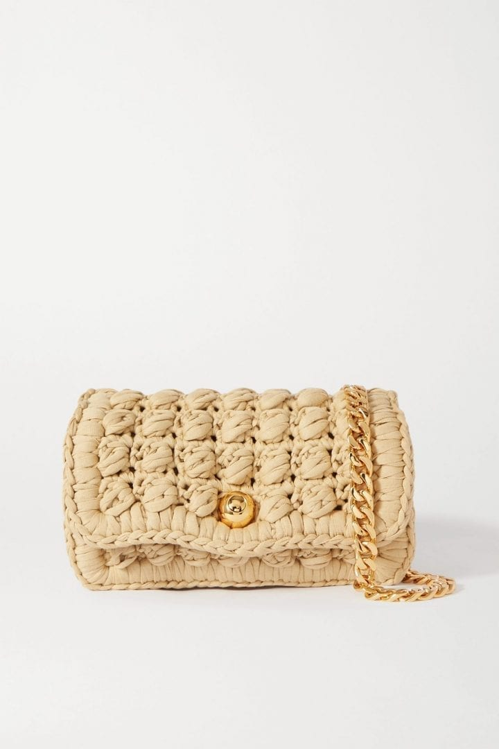 BOTTEGA VENETA Crocheted Cotton-blend Shoulder Bag