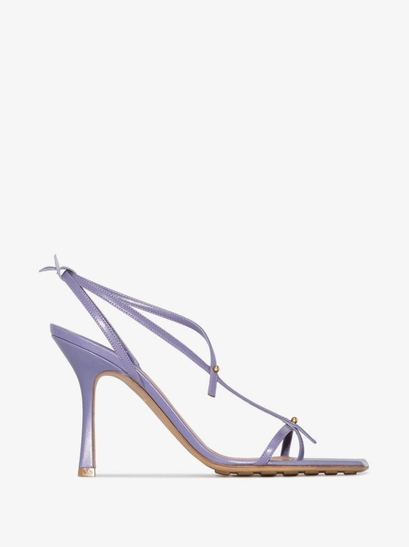 BOTTEGA VENETA Purple Stretch 90 Leather Sandals