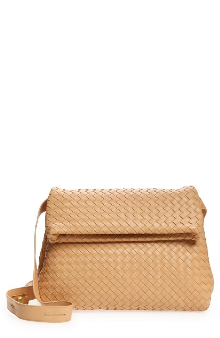 BOTTEGA VENETA The Fold Intrecciato Leather Crossbody Bag