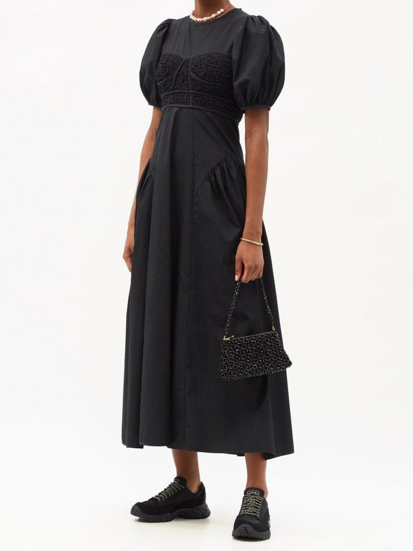 CECILIE BAHNSEN Clementine Smocked-bodice Cotton-blend Dress