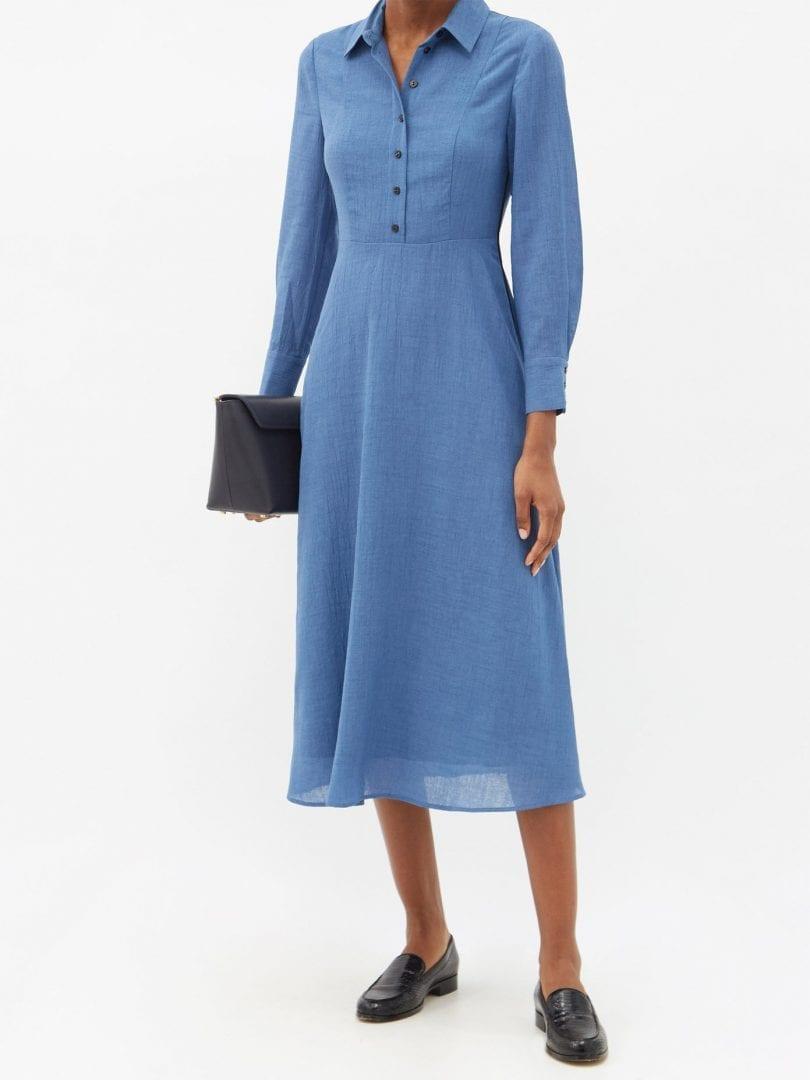 CEFINN Veronica Voile Midi Shirt Dress