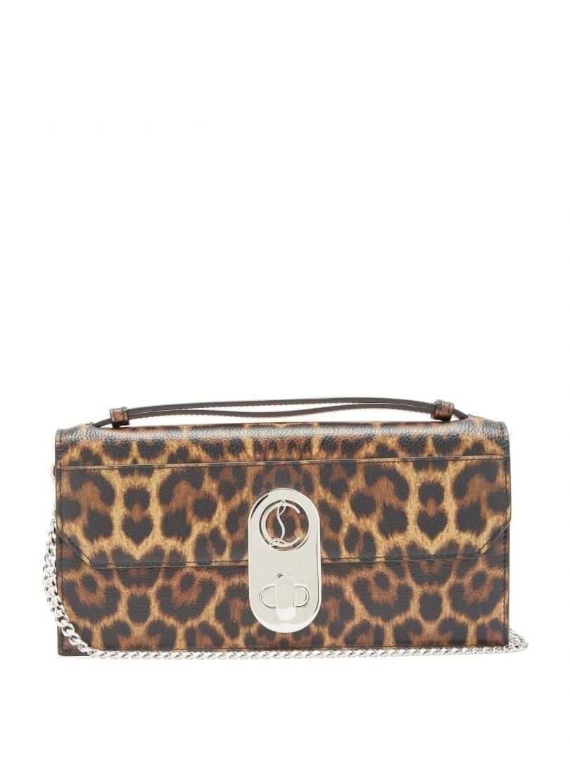 CHRISTIAN LOUBOUTIN Elisa Leopard-print Leather Cross-body Bag