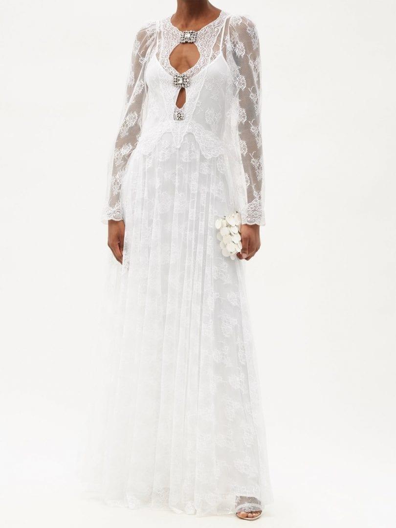 CHRISTOPHER KANE Crystal-embellished Floral-tulle Dress
