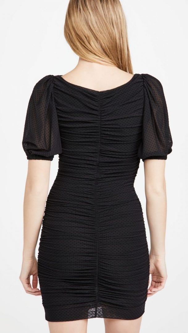 GANNI Dotted Mesh Dress