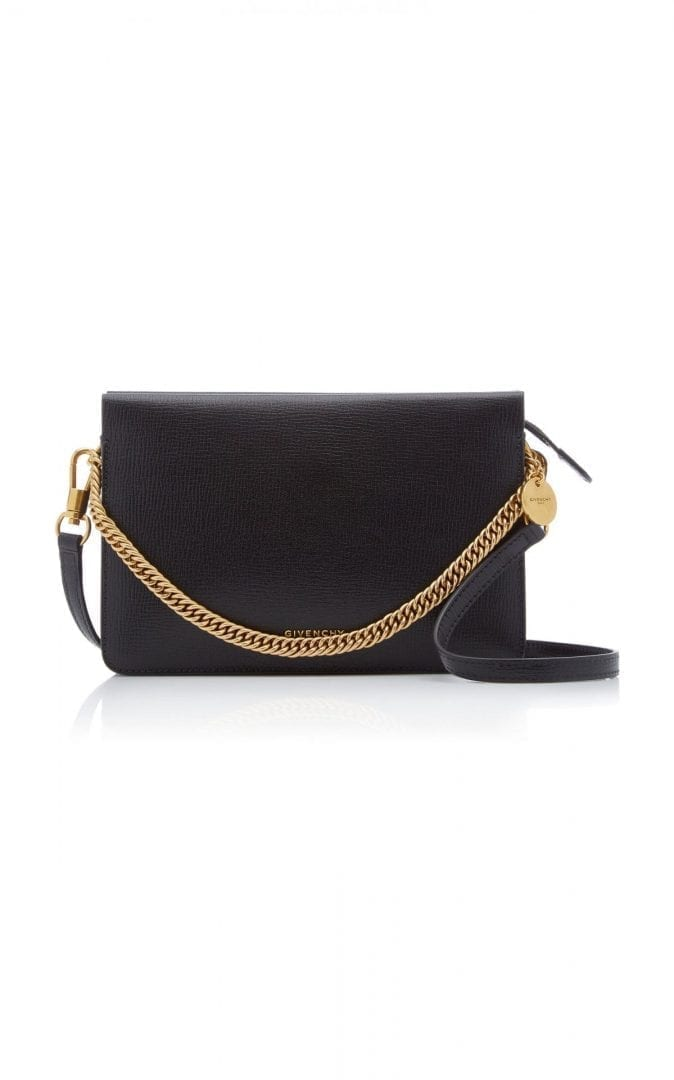 GIVENCHY Cross 3 Grained Leather Crossbody Bag