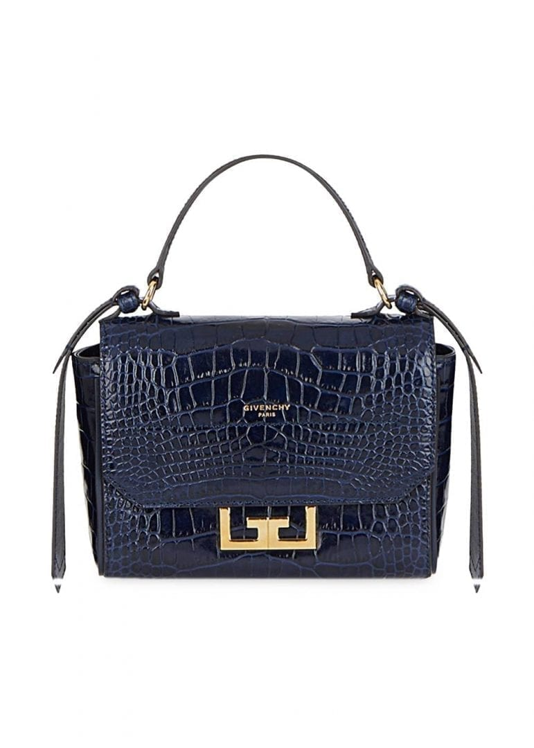 GIVENCHY Mini Eden Crocodile Embossed Leather Top Handle Bag