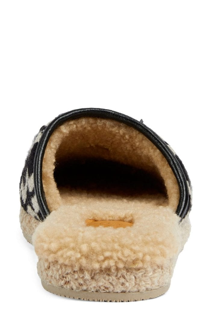 GUCCI Fria Faux Shearling Lined Mule