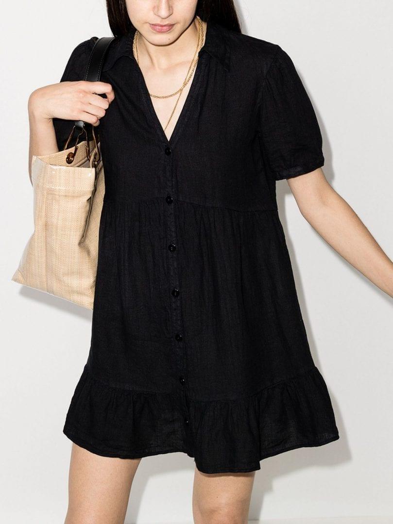 HONORINE Minnie Linen Shirt Dress
