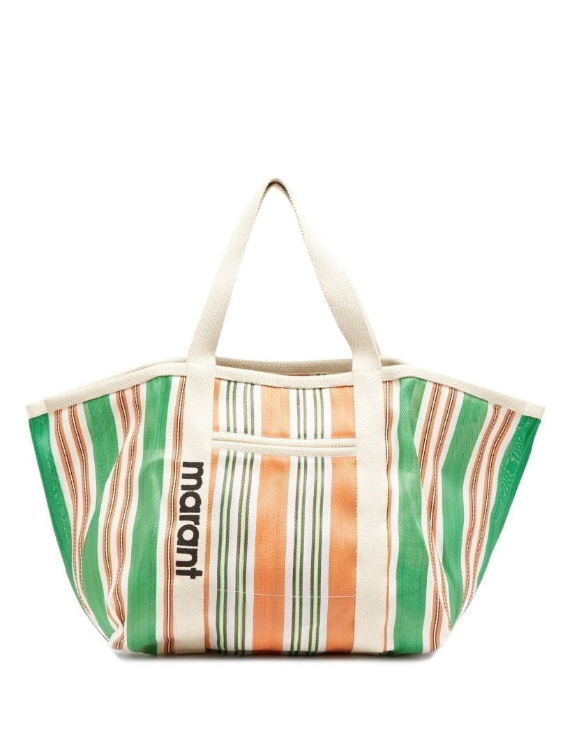 ISABEL MARANT Warden Striped Canvas Tote Bag