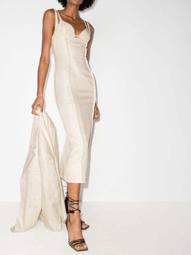 JACQUEMUS La Robe Valerie Corset Midi Dress