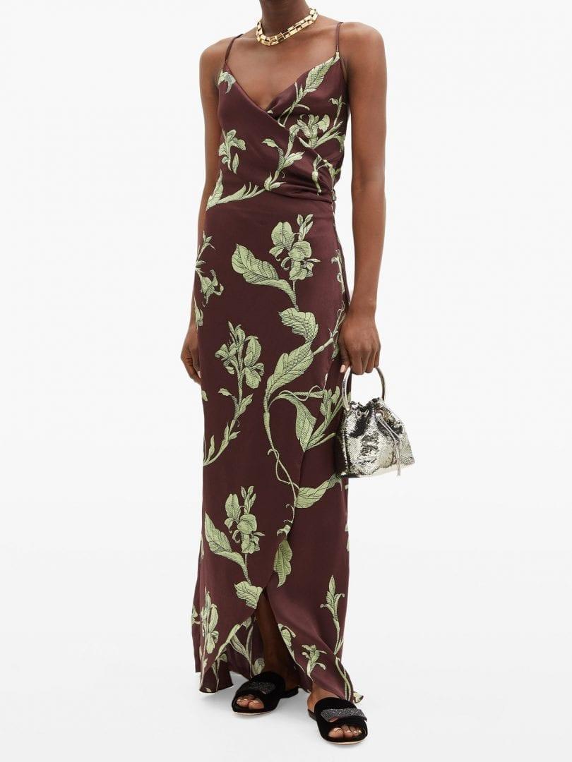 JOHANNA ORTIZ Given Promise Floral-print Silk Slip Dress