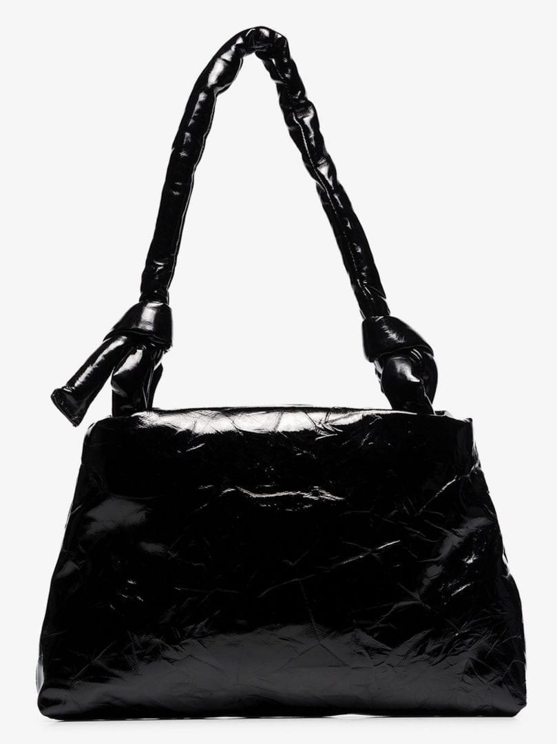 KASSL EDITIONS Black Lady Lacquer Leather Shoulder Bag