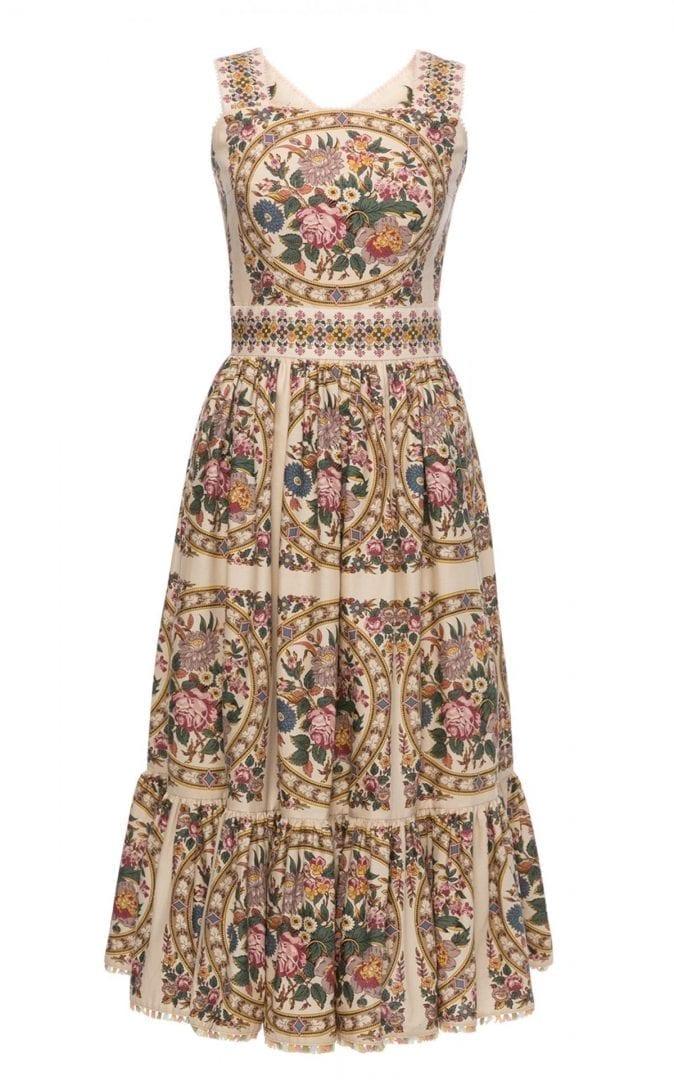 LENA HOSCHEK Jardin Floral Cotton Midi Dress