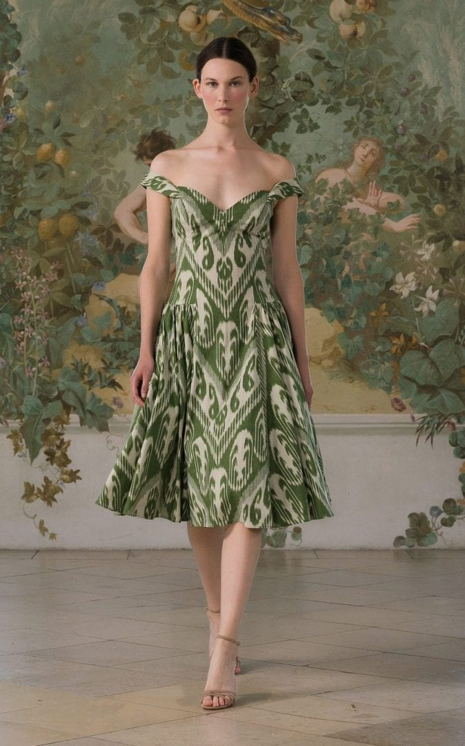 LENA HOSCHEK Sophia Printed Cotton Midi Dress
