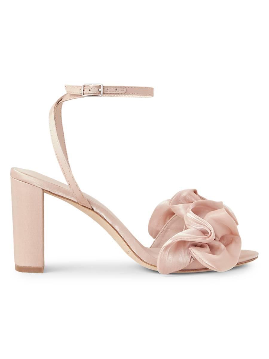 LOEFFLER RANDALL Ruffle Ankle Strap Sandals