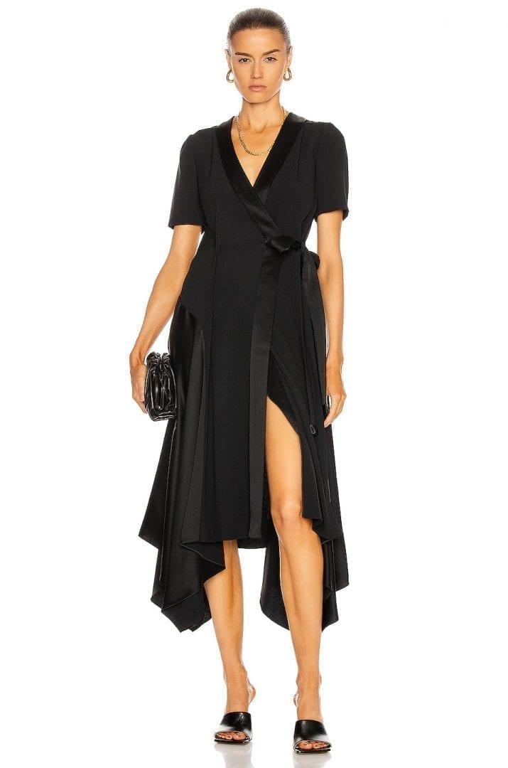LOEWE Asymmetric Wrap Dress