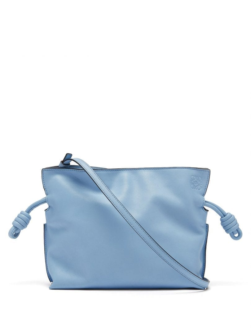 LOEWE Flamenco Mini Drawstring Leather Cross-body Bag