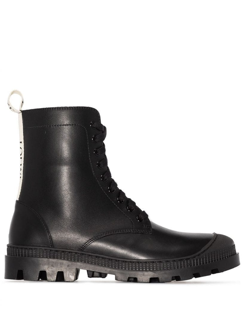 LOEWE Lace-up Leather Boots