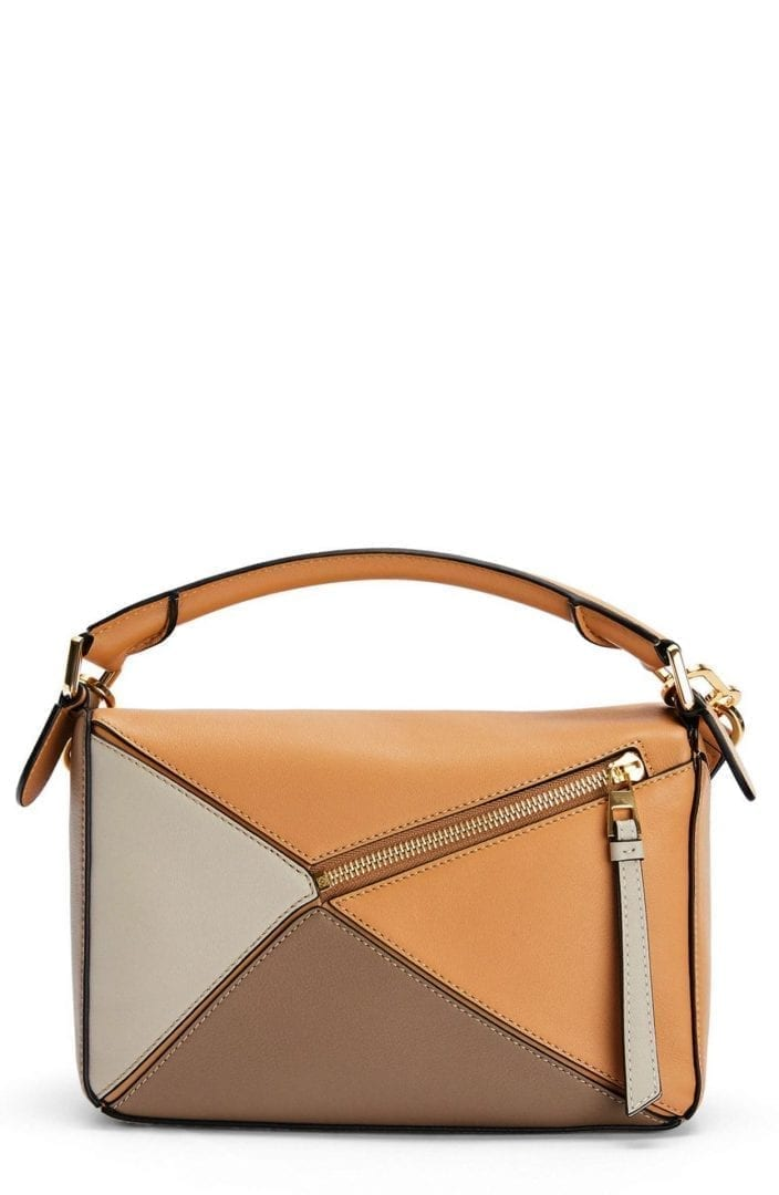 LOEWE Small Puzzle Calfskin Leather Shoulder Bag