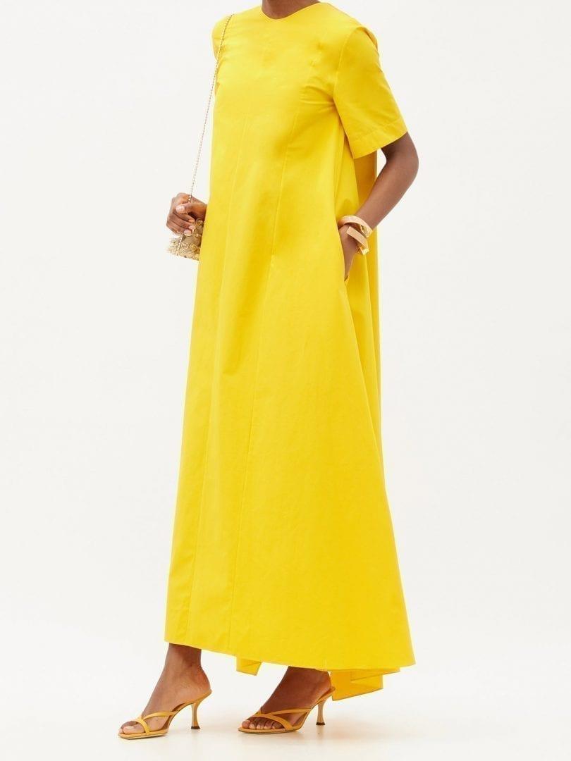 MAISON RABIH KAYROUZ A-line Cotton-poplin Maxi Dress